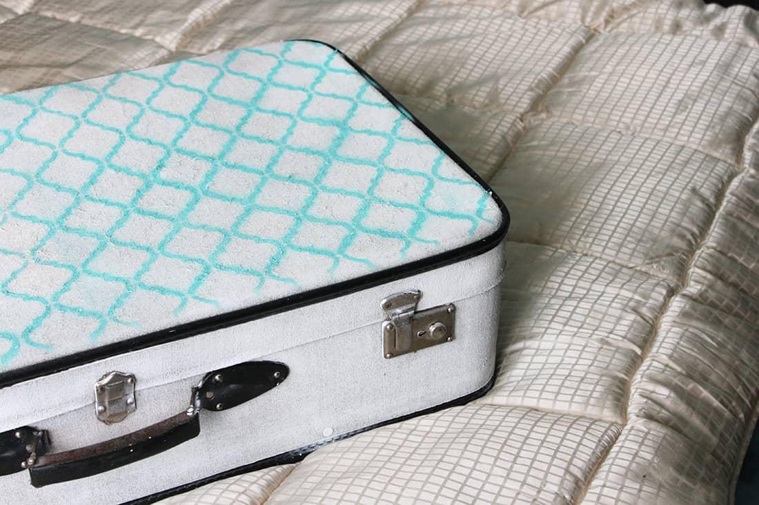 Autre visuel du résultat de la valise - DIY : Redonner vie à une vieille valise
