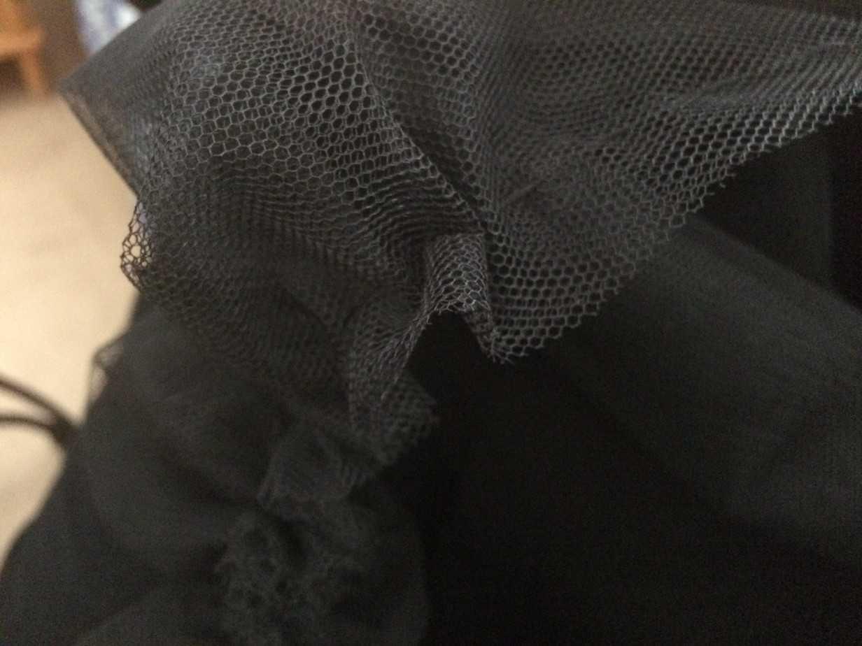 le moment où il faut plisser la tulle du tutu