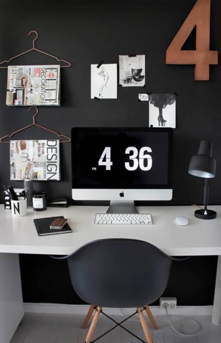 Des cintres pour ranger le bureau - 10 astuces pour organiser votre bureau