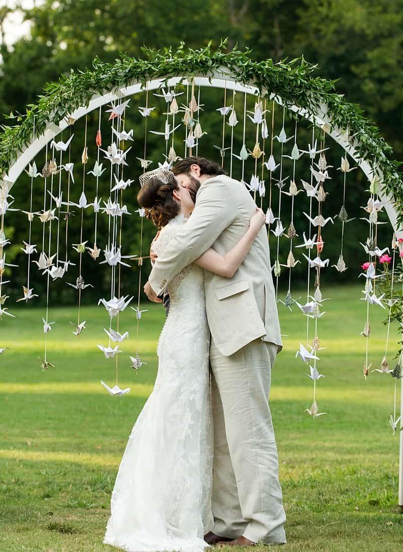 Des mariés à leur mariage