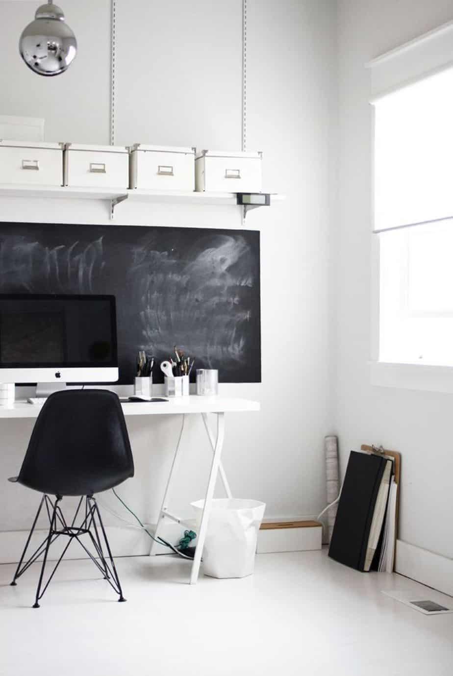 de la peinture ardoise pour le bureau - 10 astuces pour organiser votre bureau