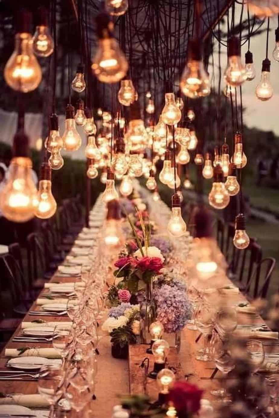 déco lampes ampoules mariage