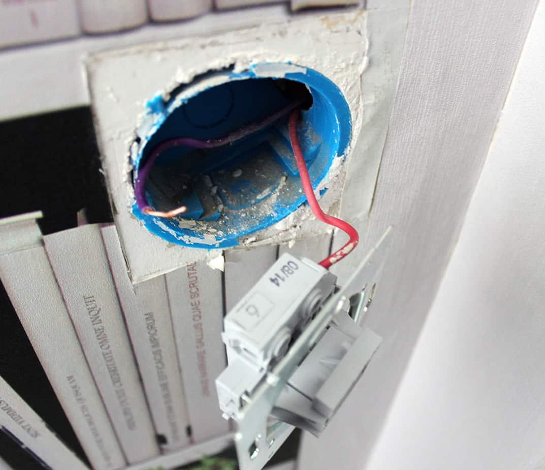 installation des fils interrupteur