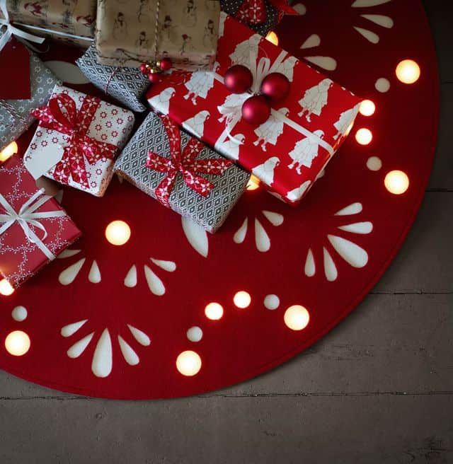 nouvelle collection noel ikea tapis de sapin lumineux - Ikea : la nouvelle collection Noël 2015