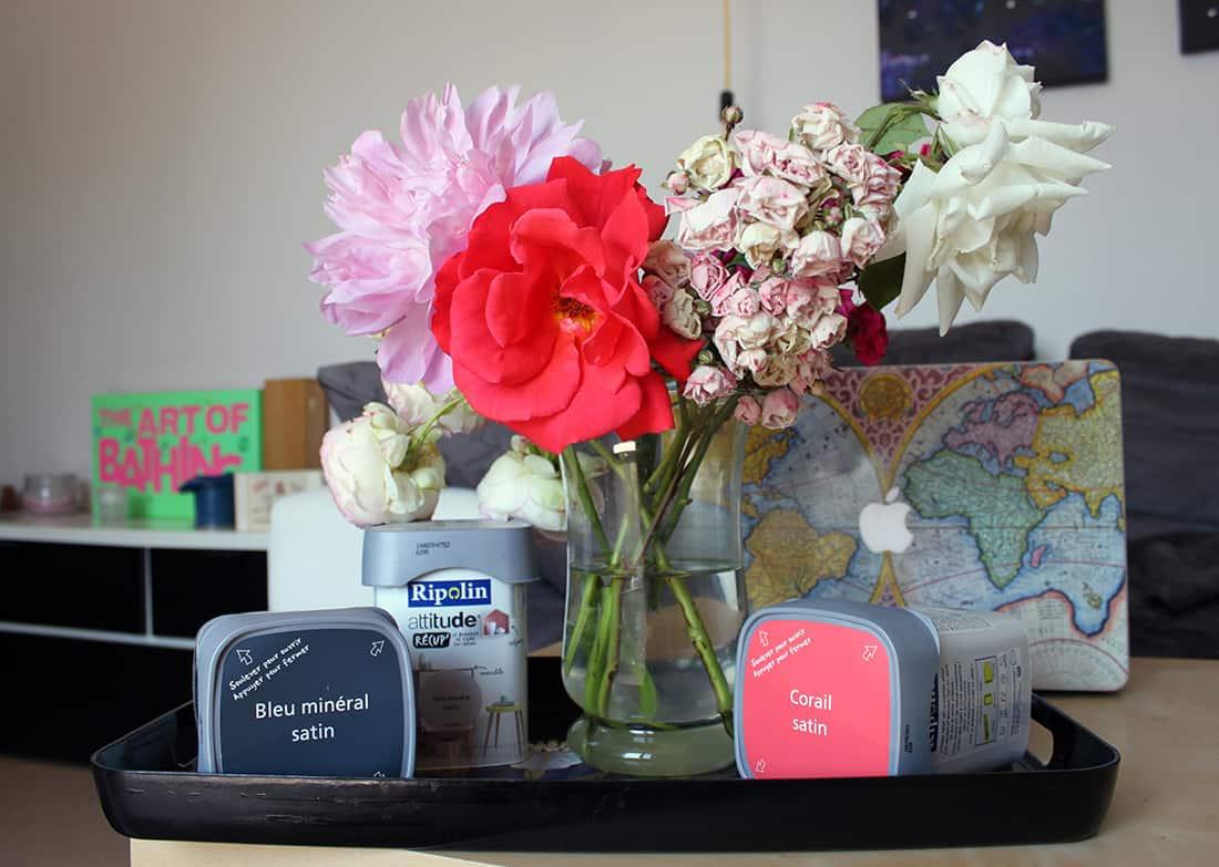pot de peinture ripolin bouquet de fleur