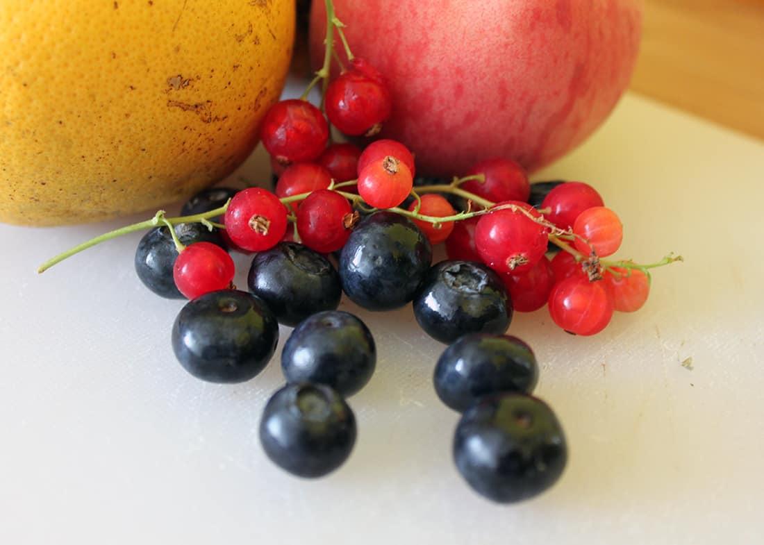 zoom sur les fruits pour Detox Water