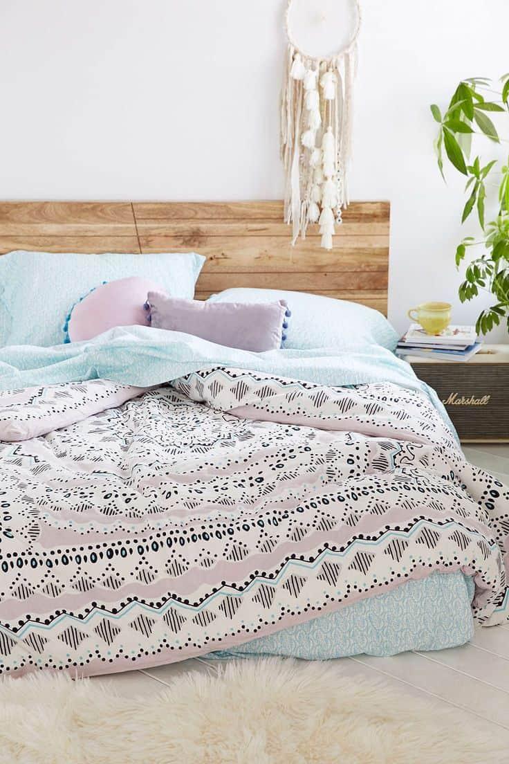 des draps de lit pastel pour une deco cocooning
