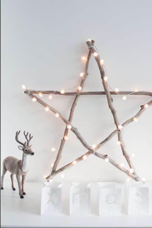 etoile en bois pour noel - Noël : 11 DIY faciles pour une déco réussie