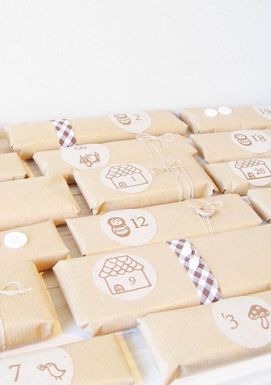 calendriers de l'Avent paquet cadeau