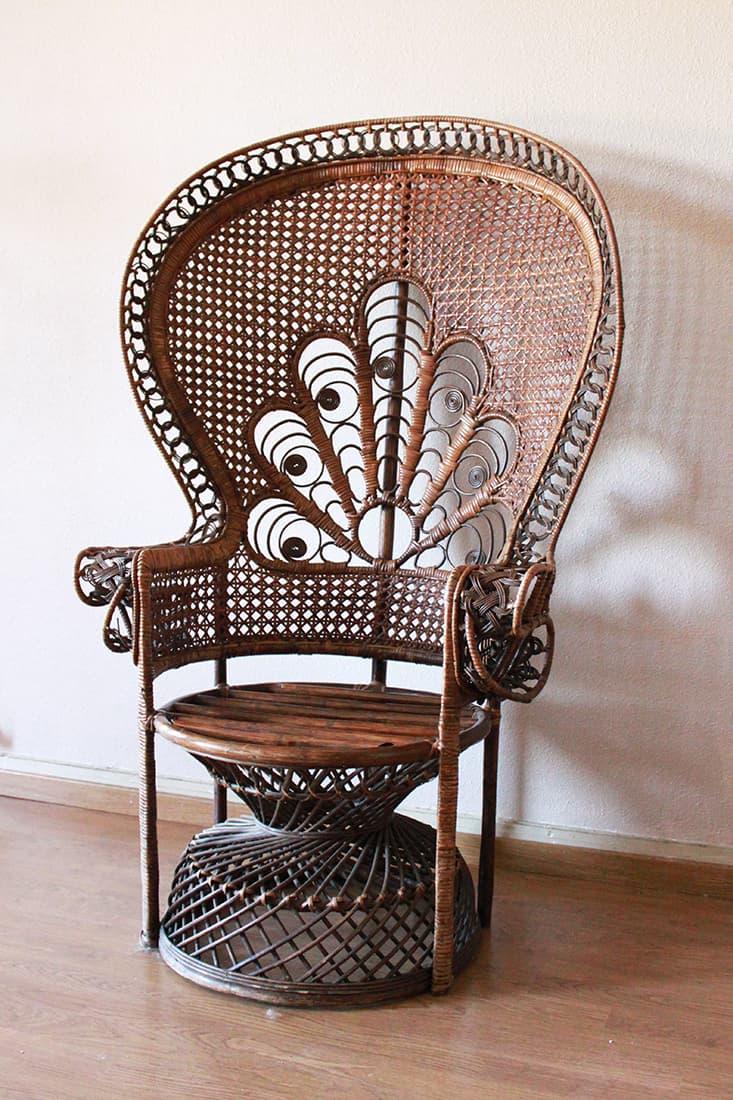 fauteuil rotin au debut avant la peinture