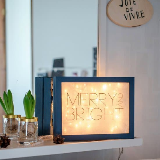 DIY faciles : une light box pour noel