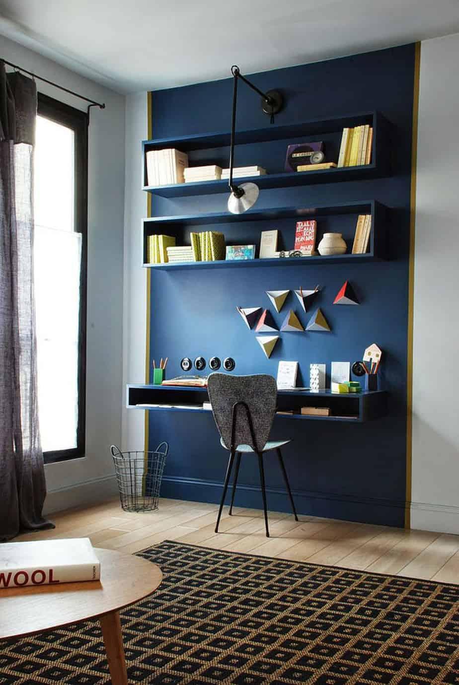 bureau design avec des etageres