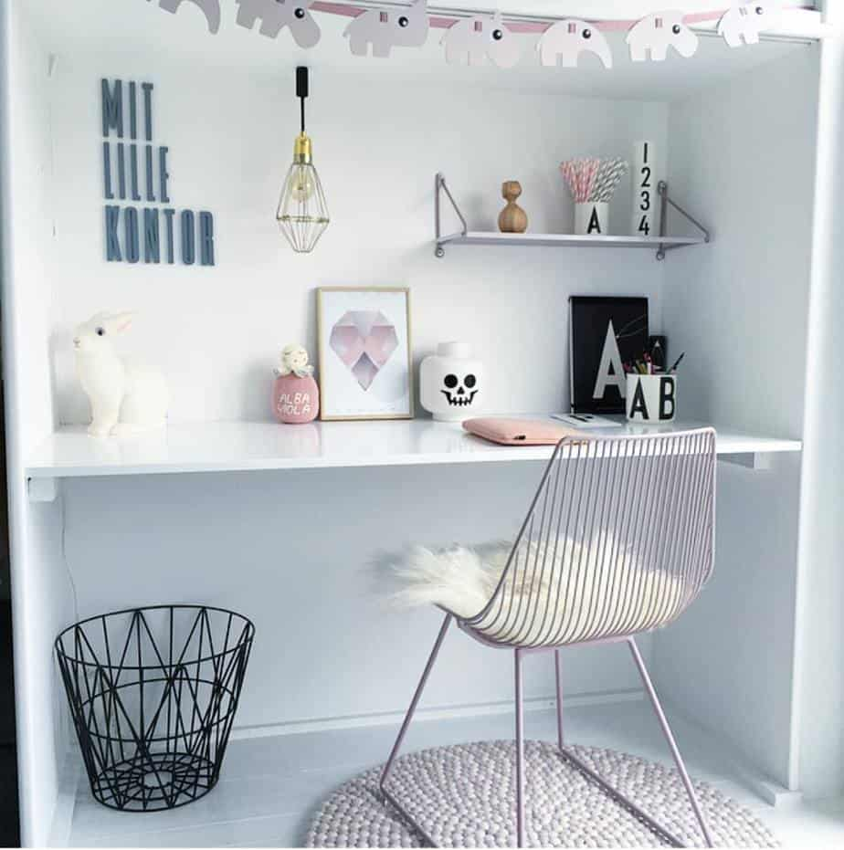 bureau girly scandinave