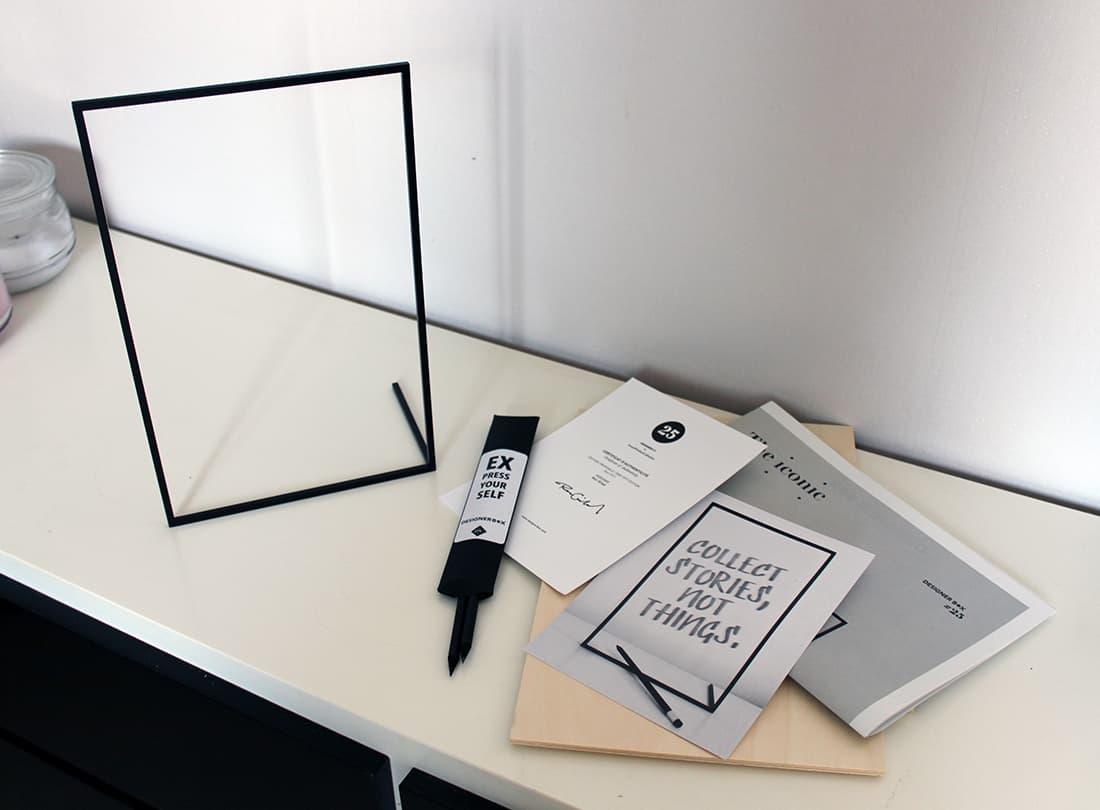 frame x et les documents de la designer box - J'ai testé pour vous la Designer box