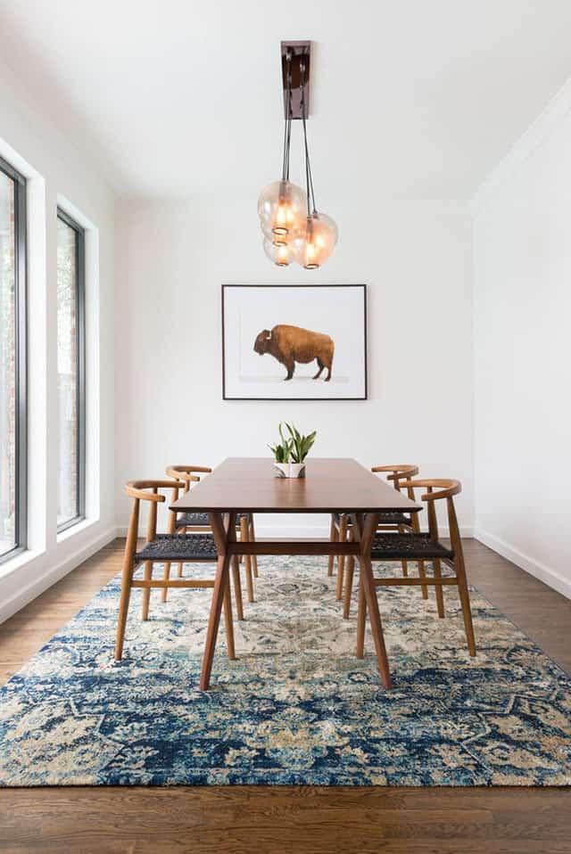 un tapis pour decorer le coin repas - Comment bien réussir sa salle à manger