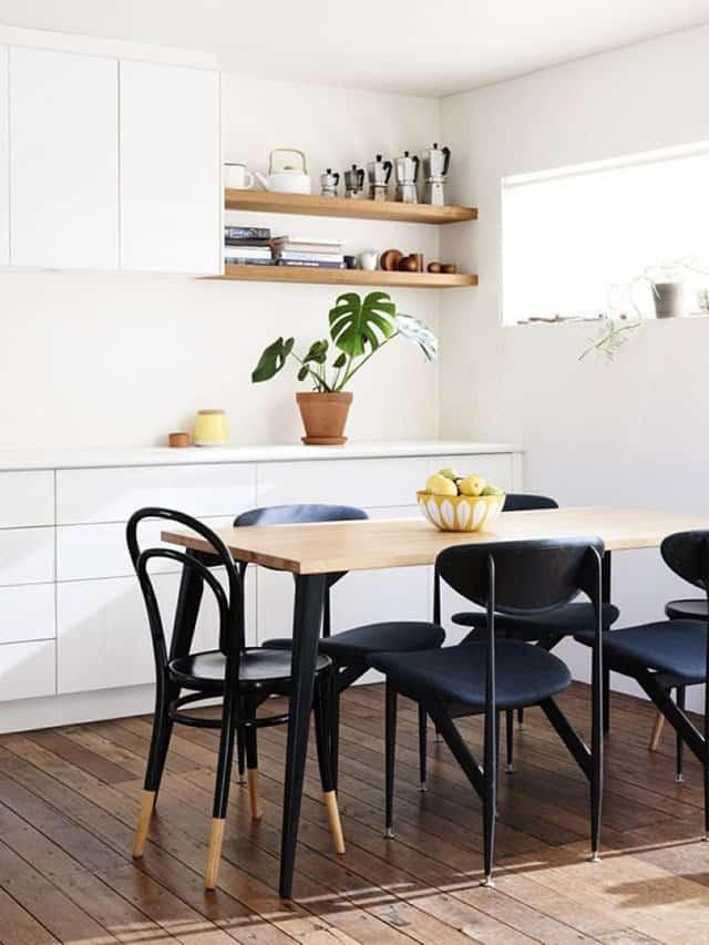 une table scandinave dans une salle a manger