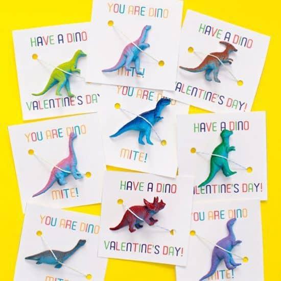cartes saint-valentin dinosaure