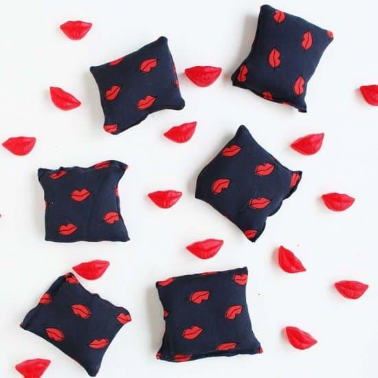 coussins coeur saint-valentin