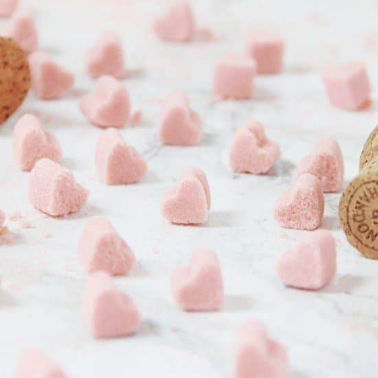 sucre en forme de coeur saint-valentin