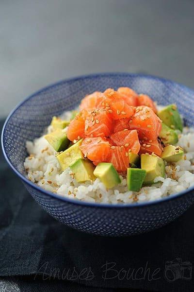 recette healthy chirashi saumon