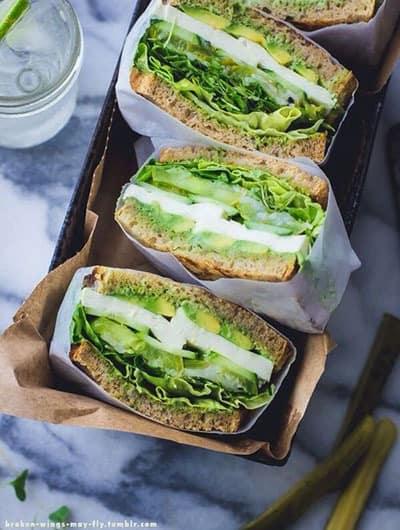 recette healthy sandwich vert