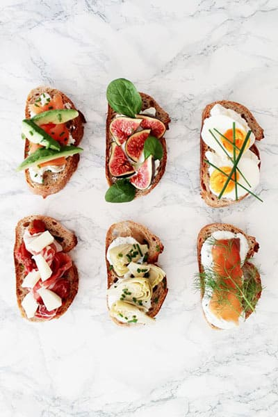 recette healthy tartines aperitives
