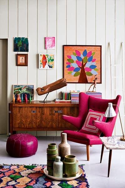 salon objet de decoration colores - Pinterest : ajouter de la couleur dans le salon