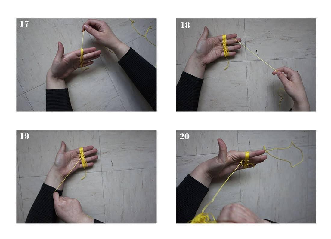 fabriquer un pompon a rideaux pour macrame