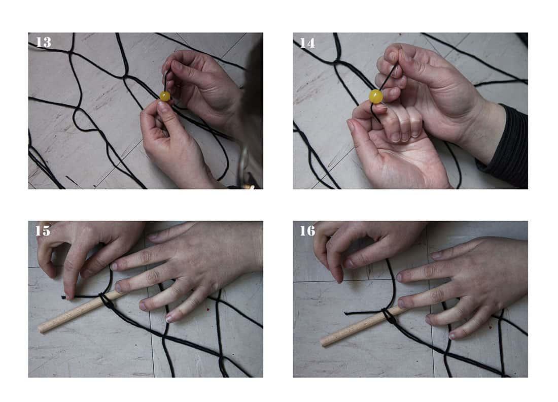 inserer des perles dans un macrame - DIY : un macramé bohème très tendance
