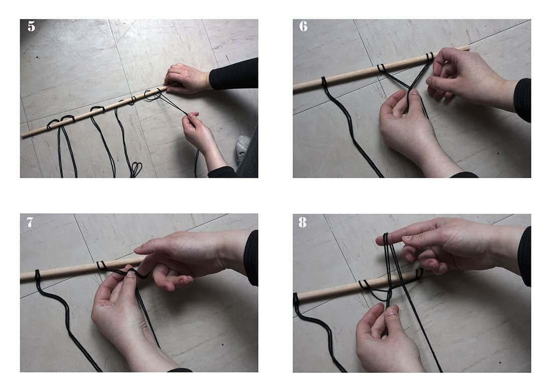 les etapes pour fabriquer un macrame