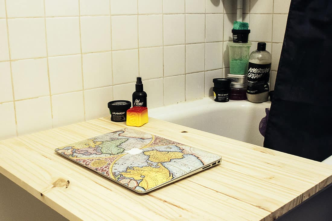 pont de baignoire ou tablette a baignoire