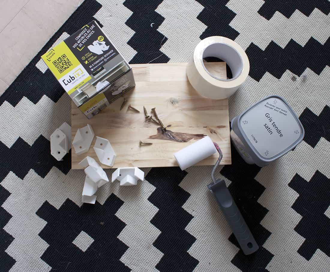 materiel necessaire pour fabriquer un meuble avec cubix