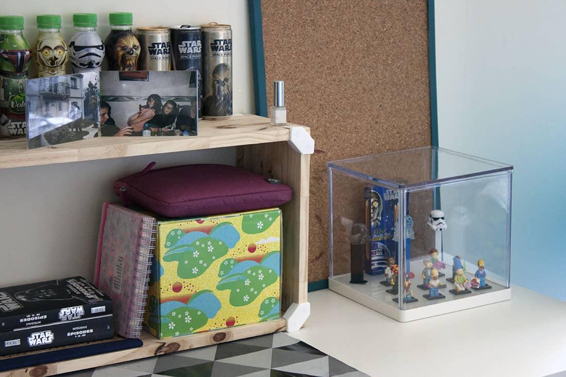 rangement fabriquer avec cubix pour organiser le bureau
