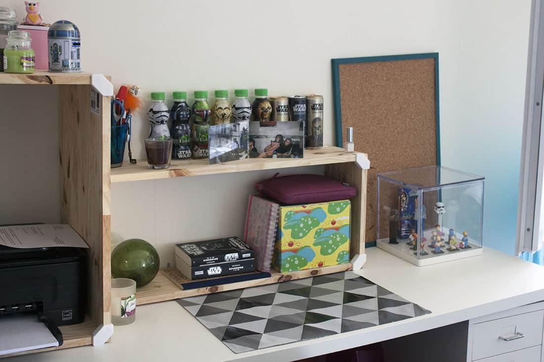 un meuble cubix sur le bureau