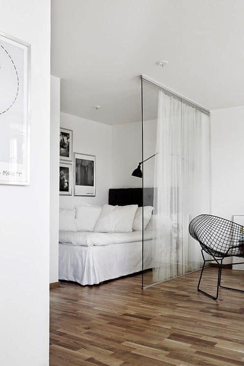 delimiter un studio avec des paroies vitrees - Inspiration Pinterest : comment bien aménager un studio