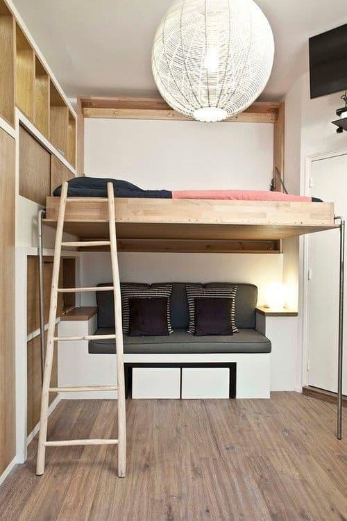 une mezzanine pour un studio - Inspiration Pinterest : comment bien aménager un studio