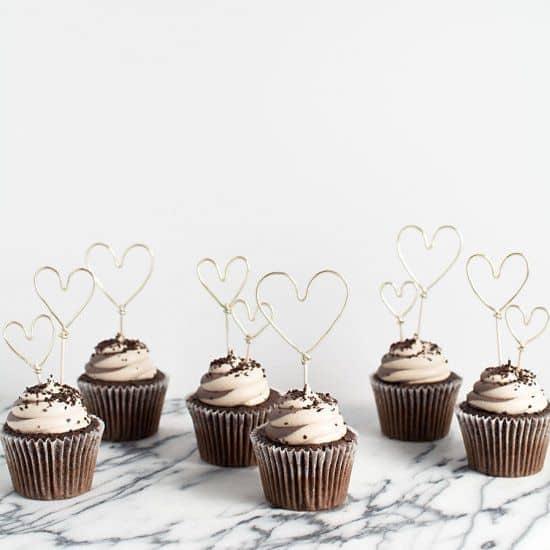 des cadeau romantique cupcake au chocolat pour la saint valentin