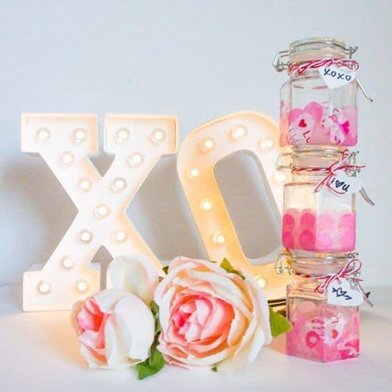 mason jar cadeau romantique saint valentin - Saint Valentin : 11 do it yourself déco pour un cadeau romantique