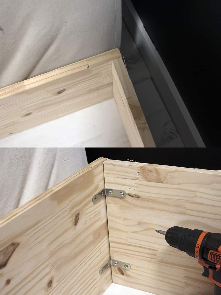 construction cadre lit escamotable etape 1