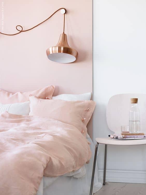 chambre rose poudre couleurs phares de lete