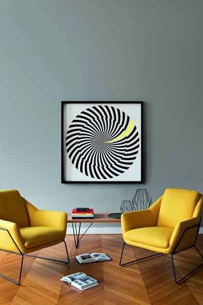 sejour fauteuil jaune couleurs phares de lete