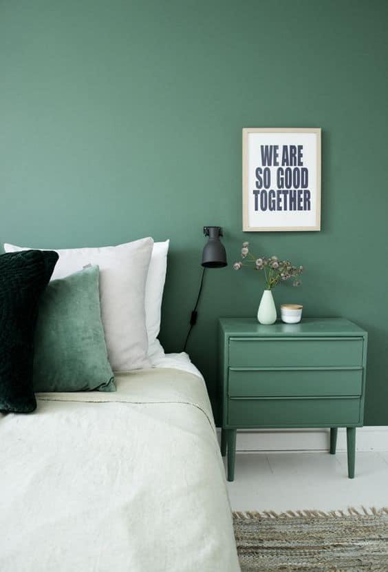 chambre verte couleurs phares de lete