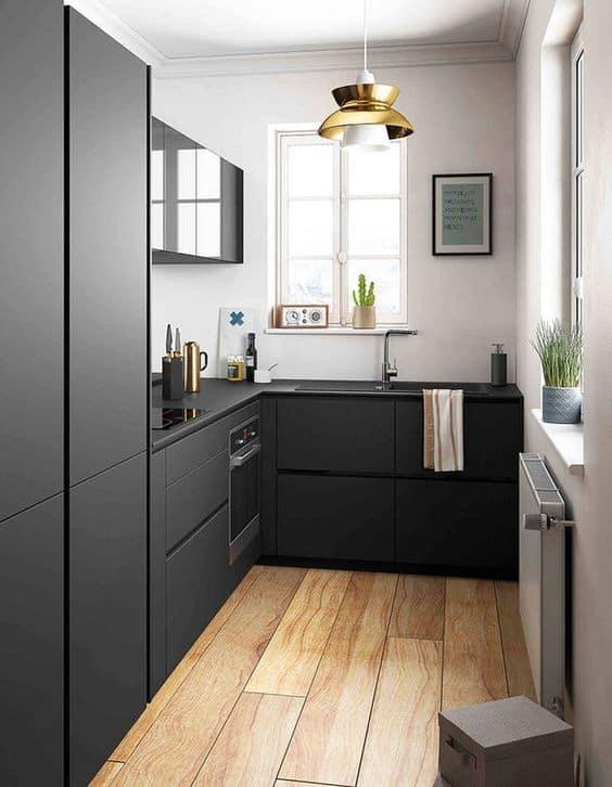 cuisine mobilier noir