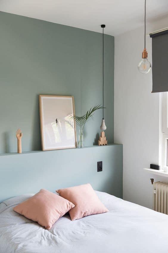 des tons pastel pour une petite chambre