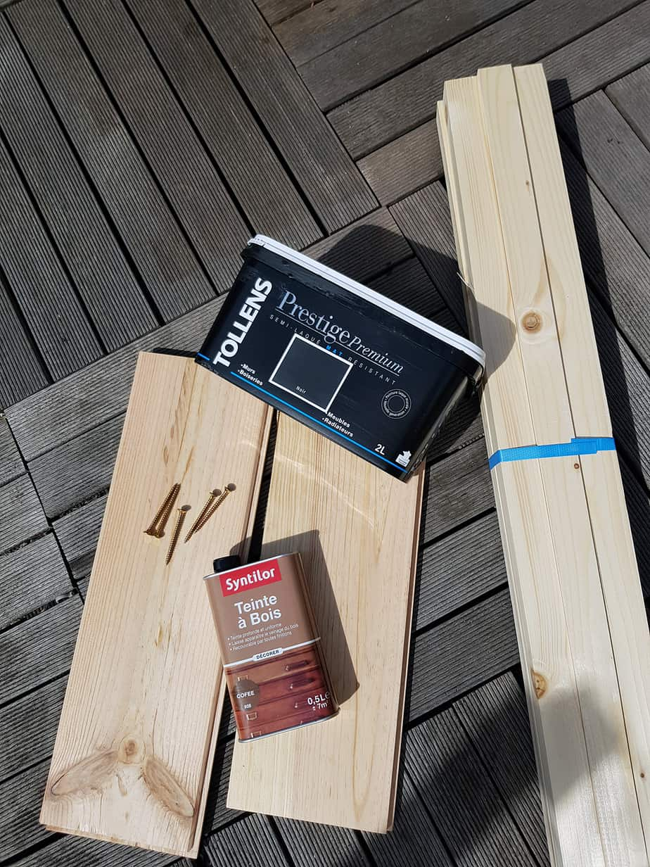 materiel necessaire construction table basse