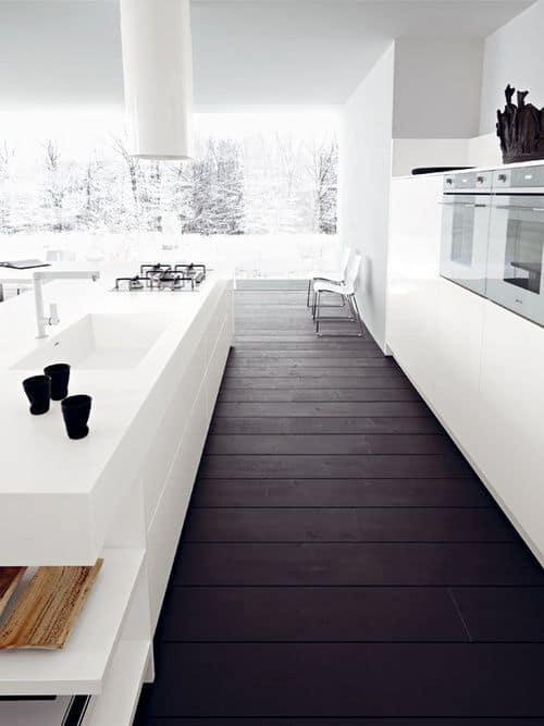 parquet dans la cuisine