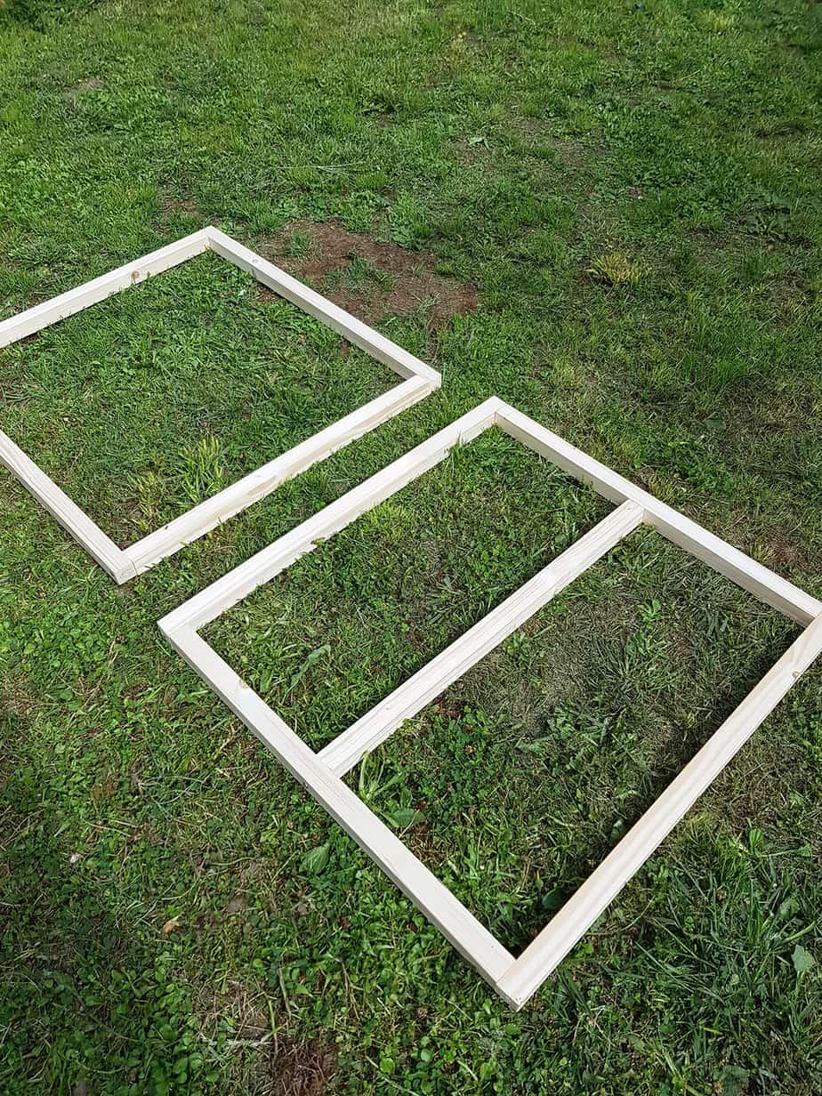 tasseaux bois structure table basse