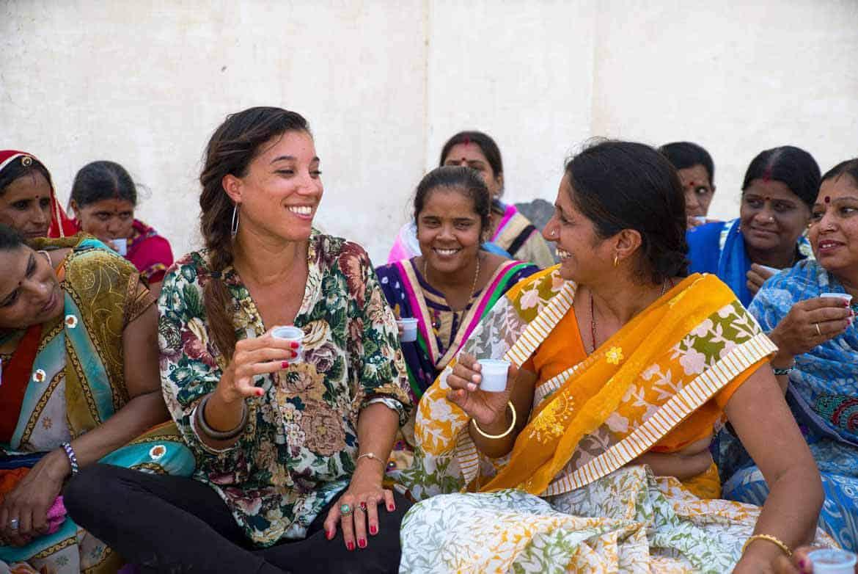 India Nasia Burnet Sukhi sociale onderneming - Sukhi, une marque de tapis équitable et tendance