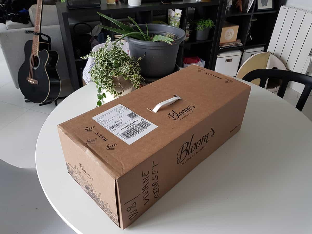 boite pour livraison de fleurs bloom s