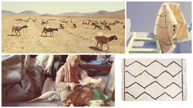 moutons laine beni ouarain tapis tissage sukhi - Sukhi, une marque de tapis équitable et tendance